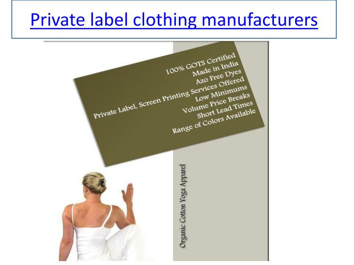 ppt private label t shirt manufacturers powerpoint