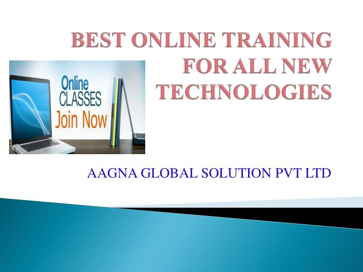 Best online training for all new technologies