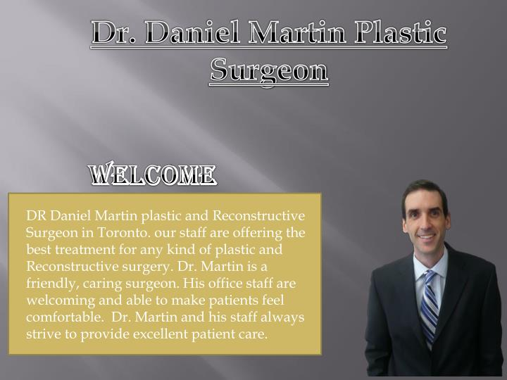 Dr. Daniel Martin Plastic Surgeon