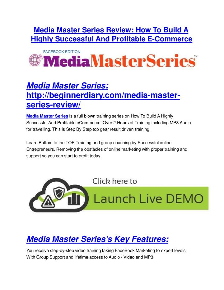 Media Master Series Review: