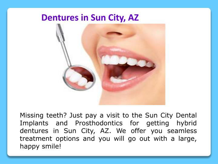 Dentures in Sun City, AZ