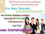mth 231 course extraordinary success tutorialrank com7