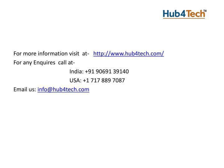 For more information visit  at-