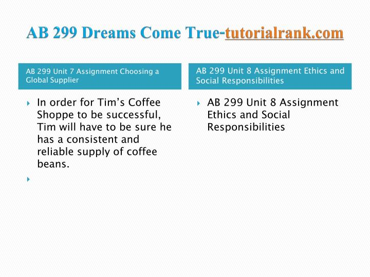 AB 299 Dreams Come True