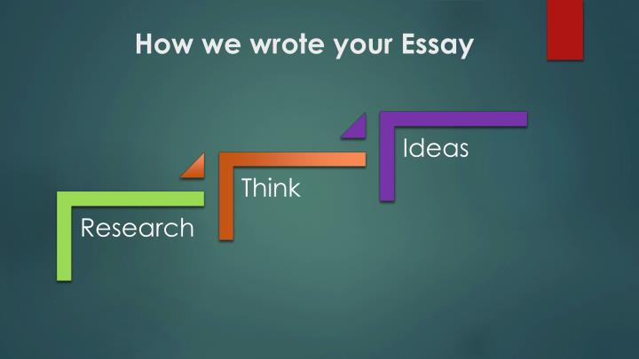 How we wrote your essay