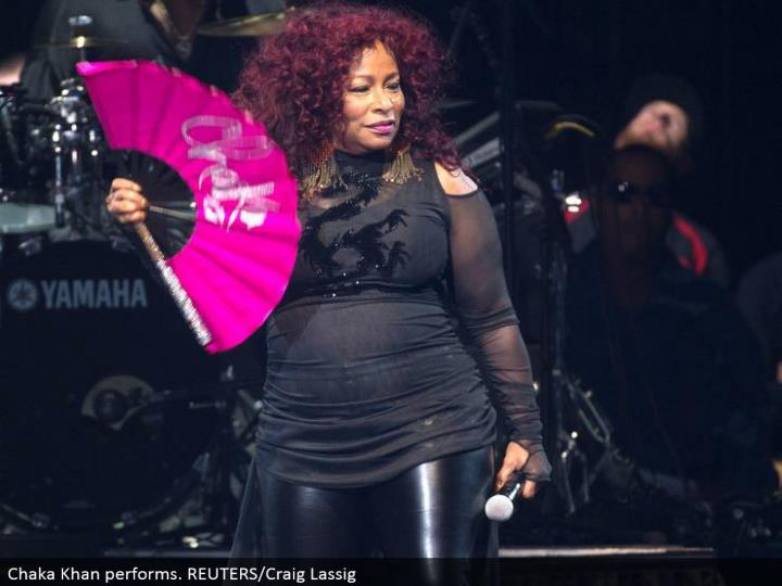 Chaka Khan performs. REUTERS/Craig Lassig