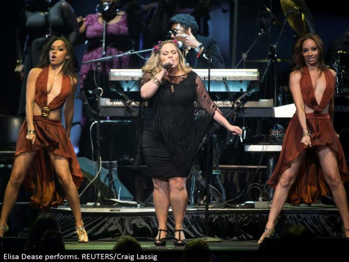 Elisa Dease performs. REUTERS/Craig Lassig