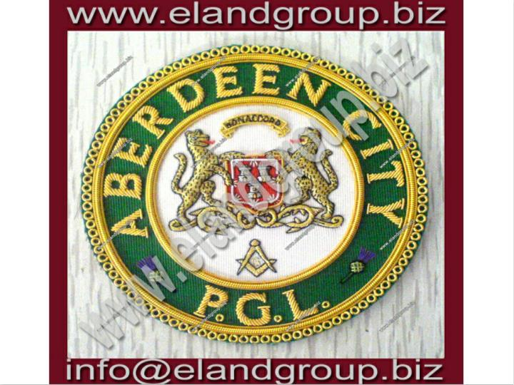 Masonic apron badge aberdeen city