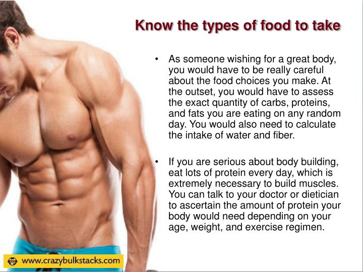 Know the types of food to take