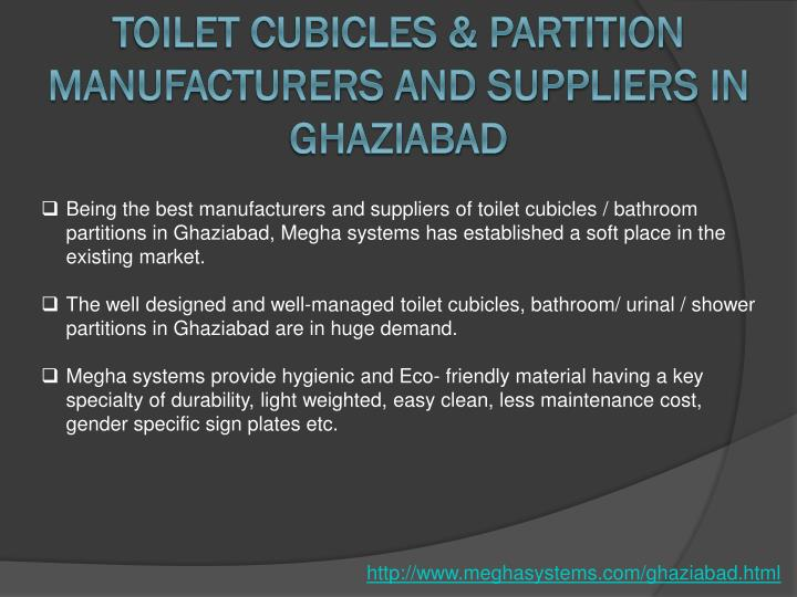Toilet Cubicles & Partition Manufacturers and Suppliers in Ghaziabad