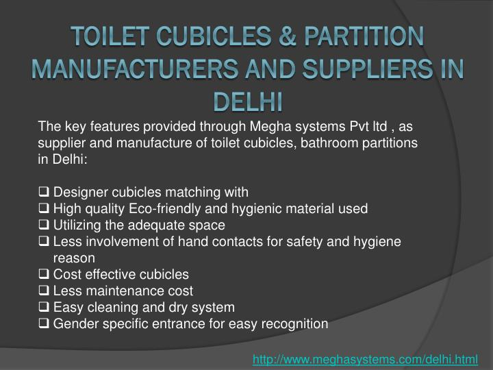 Toilet Cubicles & Partition Manufacturers and Suppliers in Delhi