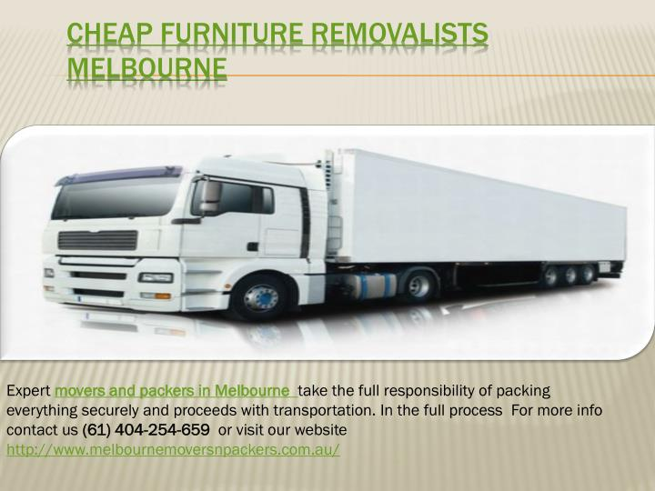 Cheap furniture removalists m elbourne