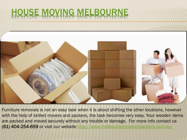 House Moving Melbourne