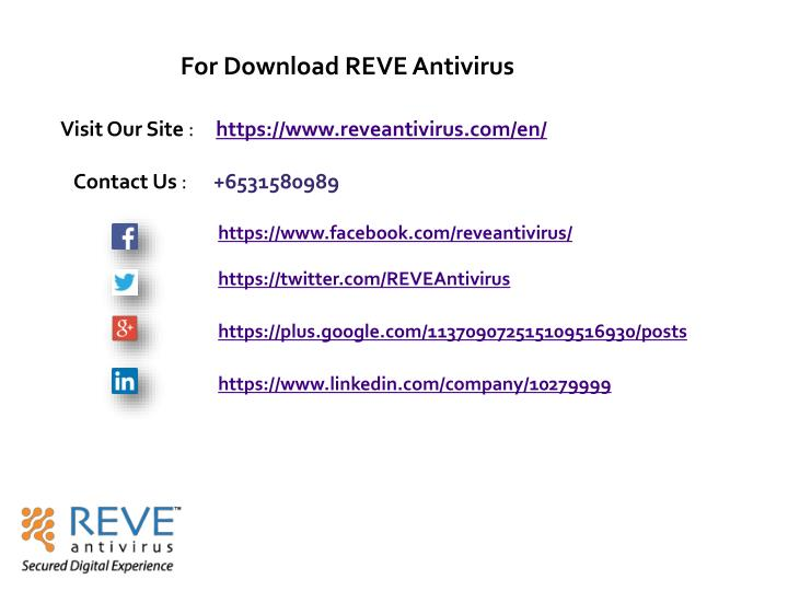For Download REVE Antivirus