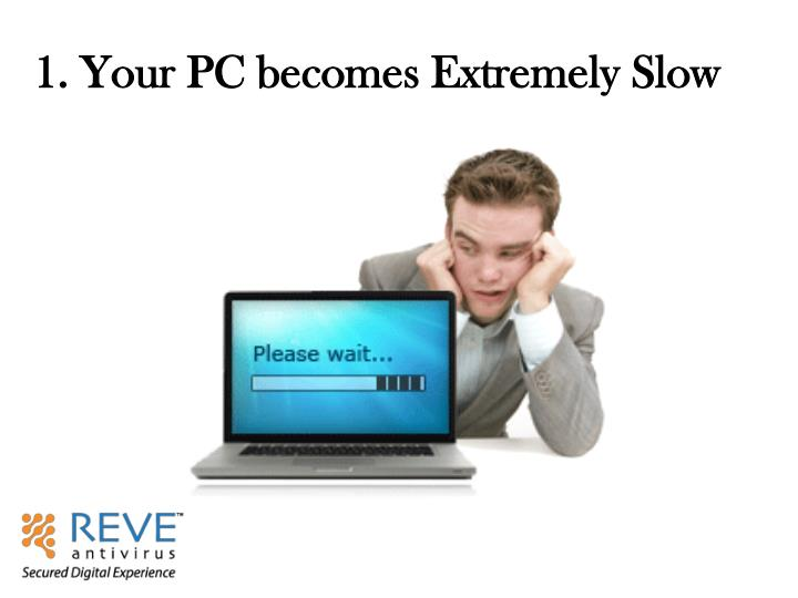 1. Your PC becomes Extremely Slow