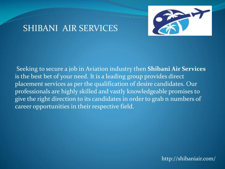 SHIBANI  AIR SERVICES