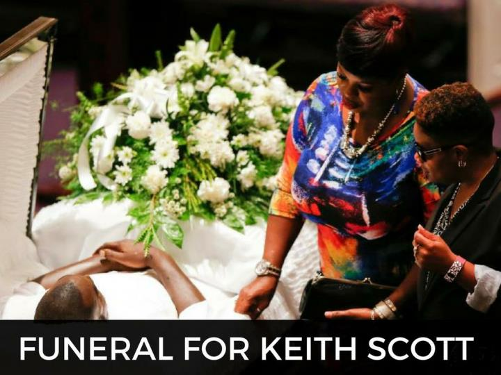 Burial service for keith scott