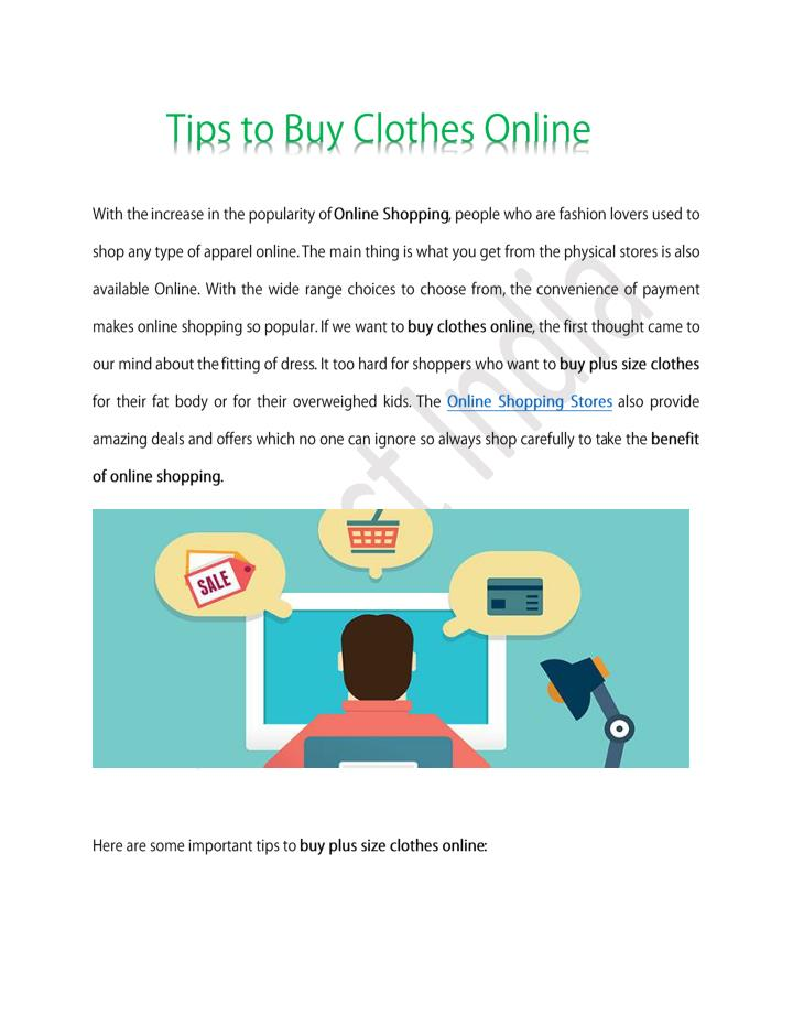Tips to buy clothes online buy plus size clothes online shopping store benefits online shopping