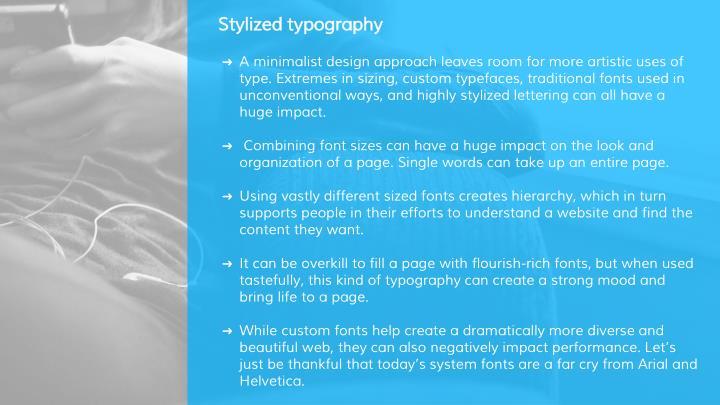 Stylized typography