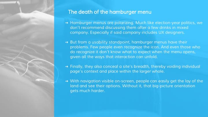 The death of the hamburger menu