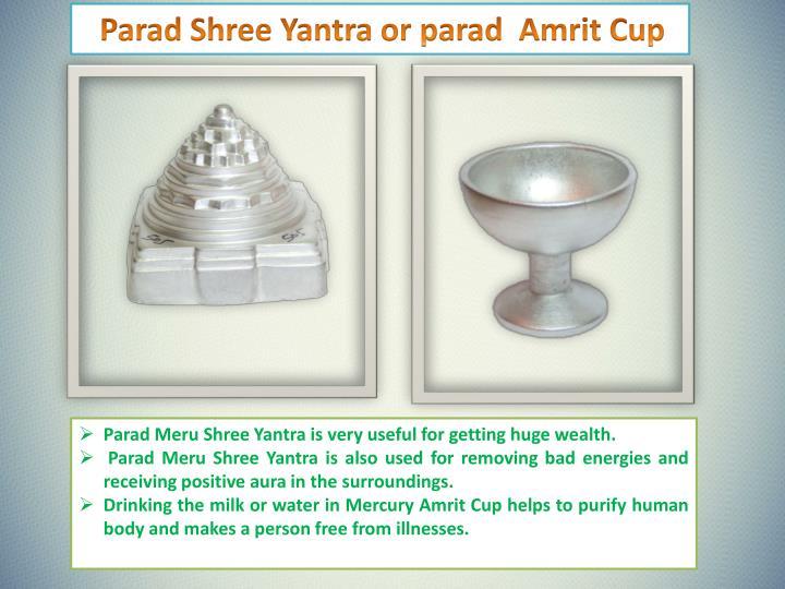 Parad Shree Yantra or parad  Amrit Cup