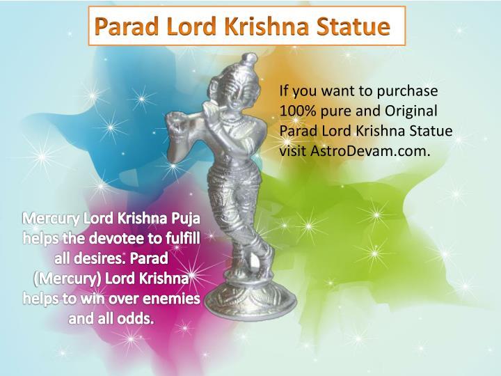 Parad Lord Krishna Statue