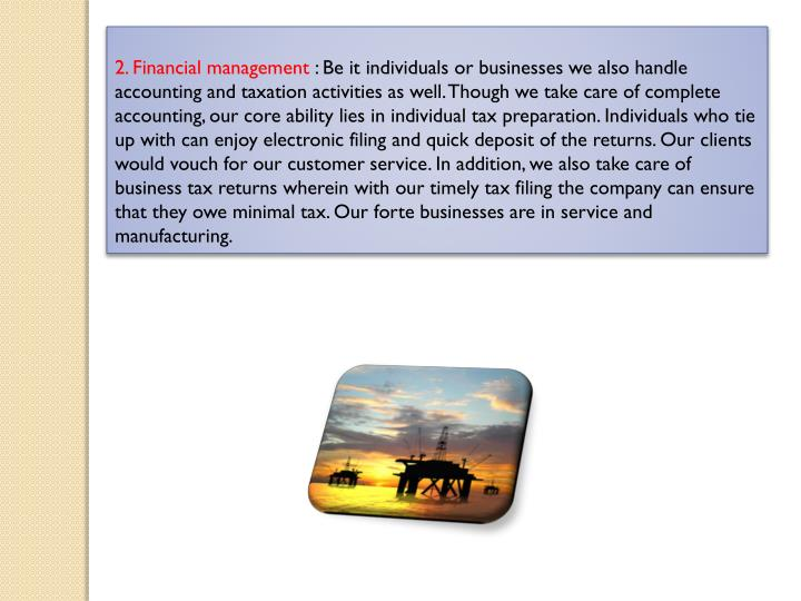 2. Financial management
