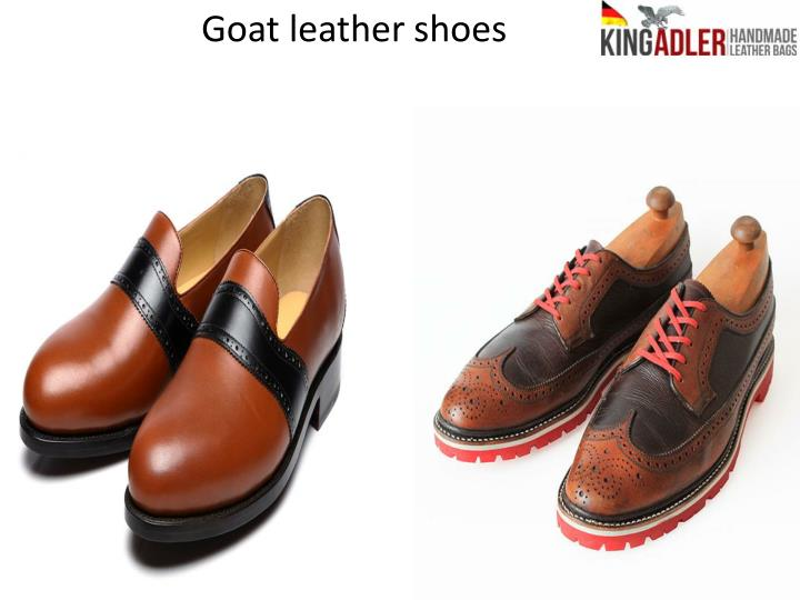 Goat leather shoes