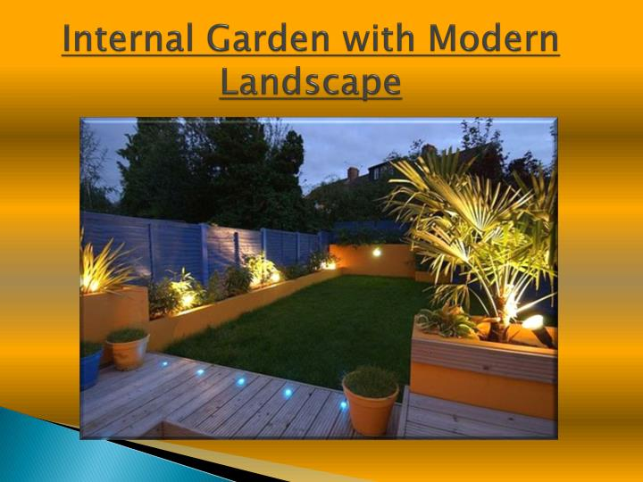 Internal Garden with Modern Landscape