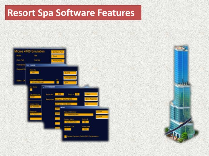 Resort Spa Software Features
