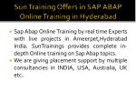 sun training offers in sap abap online training in hyderabad