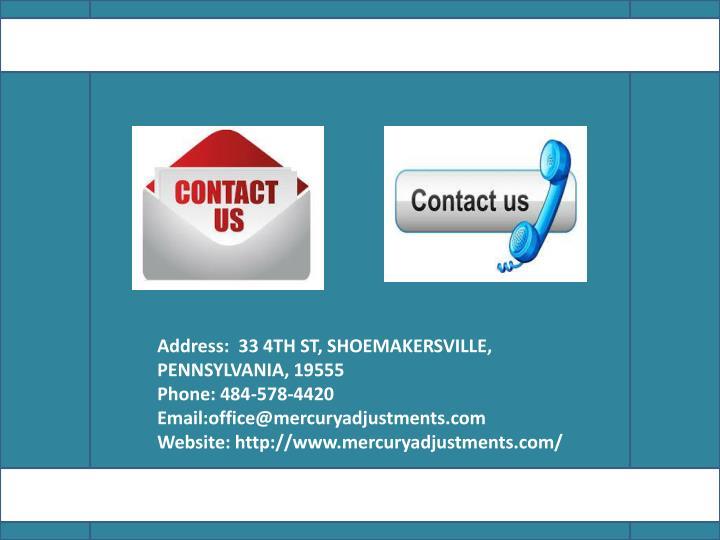 Address: 33 4TH ST, SHOEMAKERSVILLE, PENNSYLVANIA,