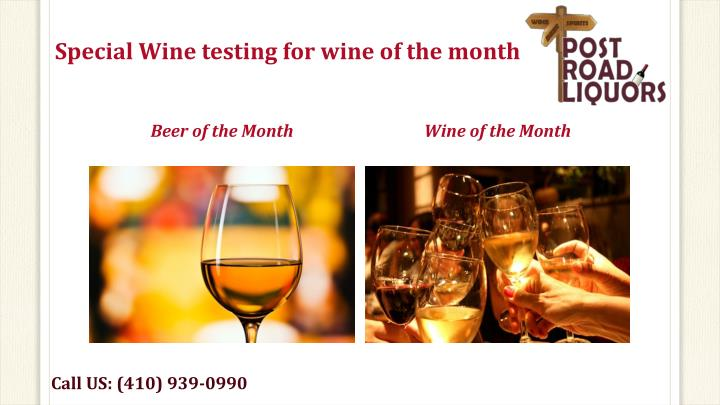 Special Wine testing for wine of the month
