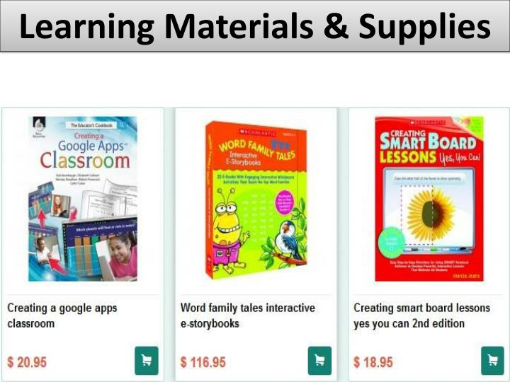 Learning Materials & Supplies