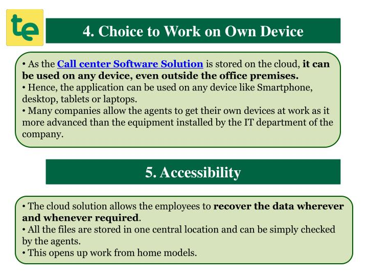 4. Choice to Work on Own Device
