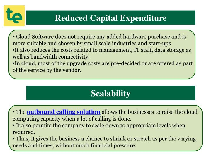 Reduced Capital Expenditure