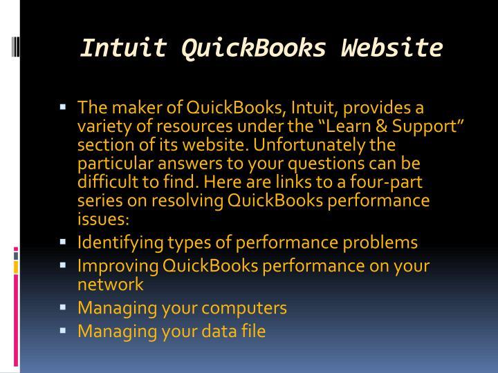 Intuit QuickBooks Website