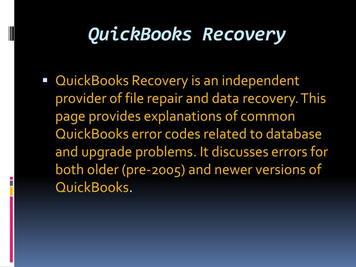 QuickBooks Recovery