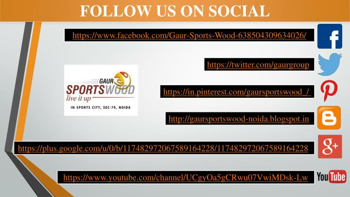 FOLLOW US ON SOCIAL