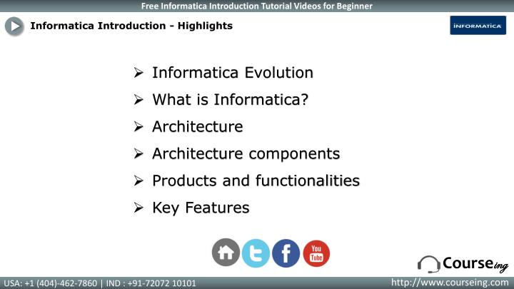 Informatica Introduction - Highlights