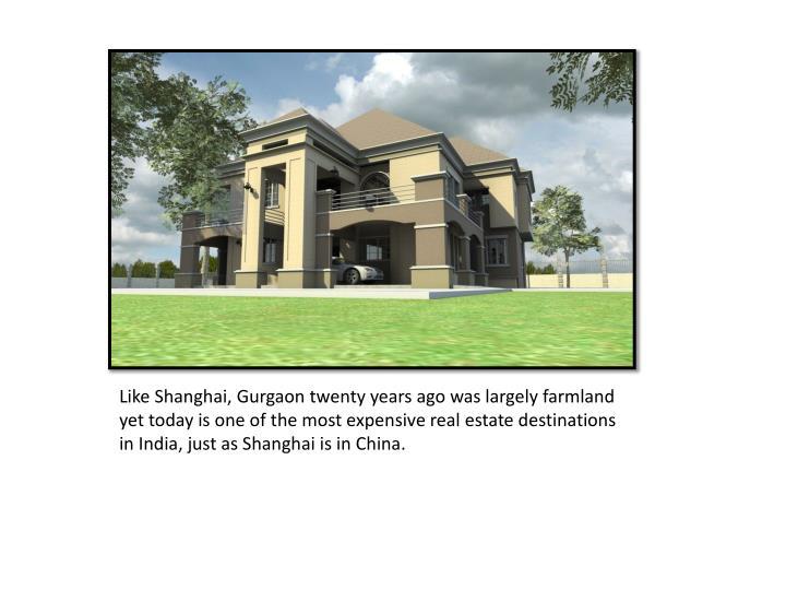 Like Shanghai,