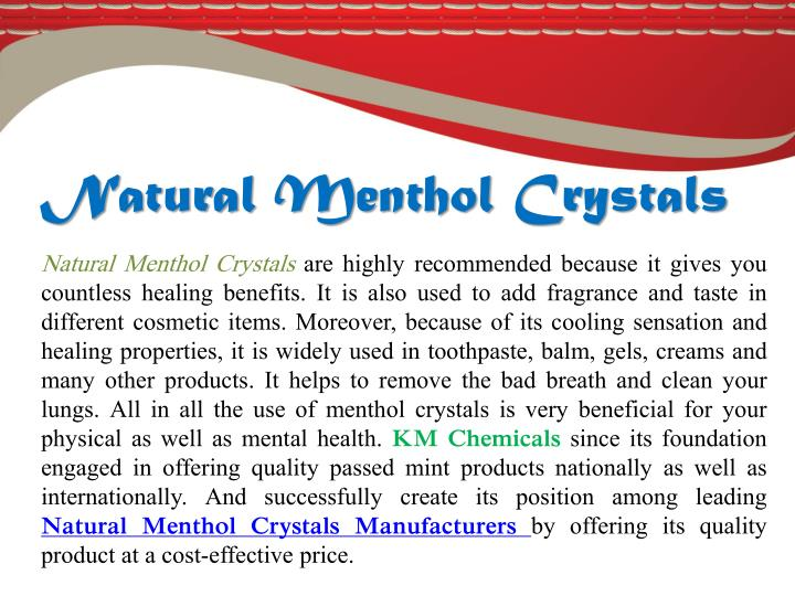 Natural Menthol Crystals