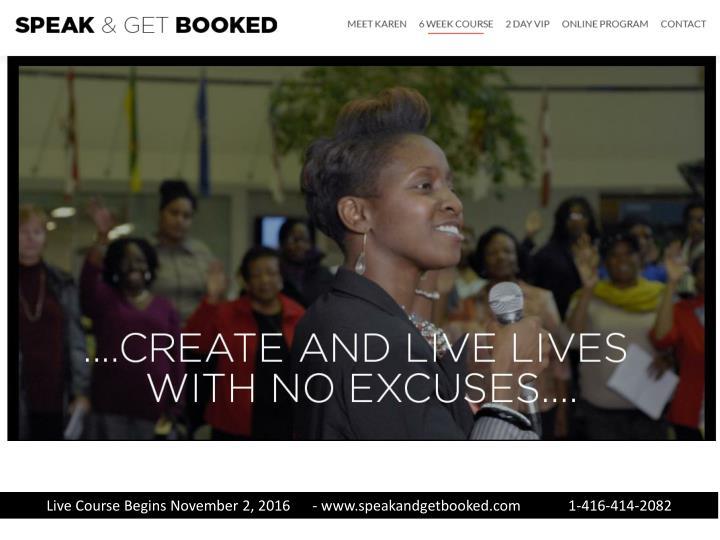 Live Course Begins November 2,