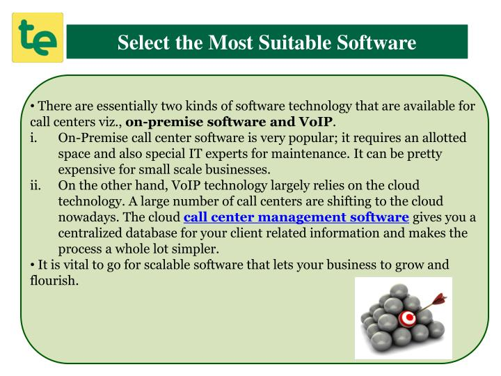 Select the Most Suitable Software