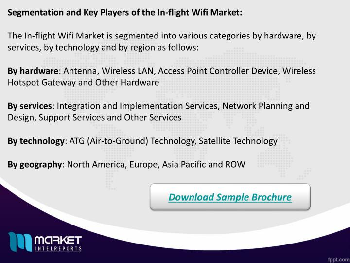 Segmentation and Key Players of the In-flight Wifi Market: