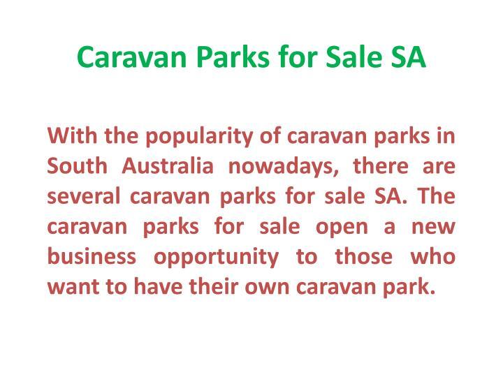 Caravan Parks for Sale SA