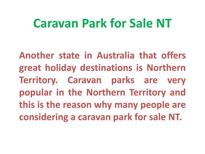 Caravan Park for Sale NT