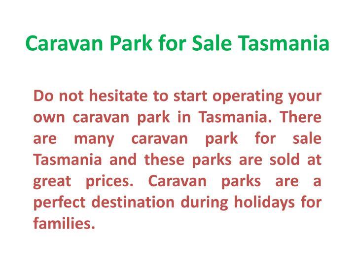 Caravan Park for Sale Tasmania