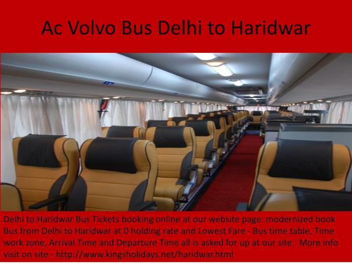 Ac Volvo Bus Delhi