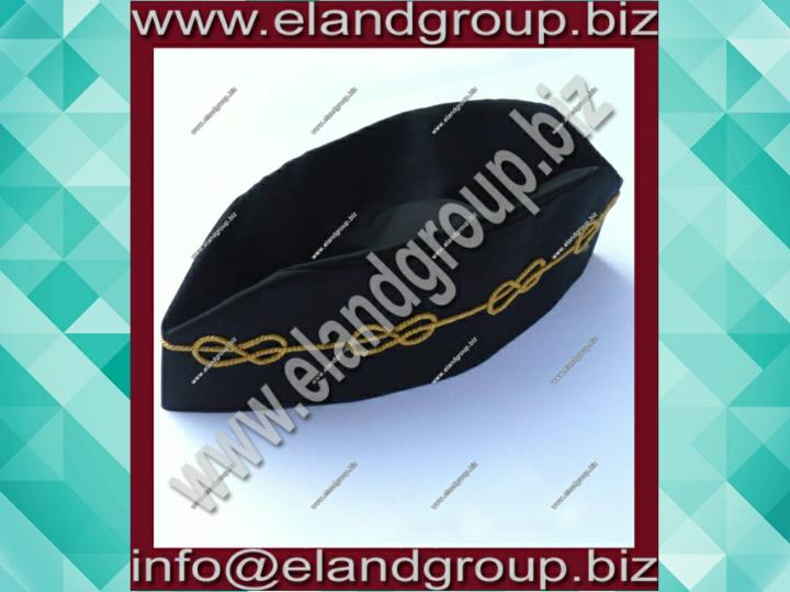 Master mason hat cap with mylar wire chain